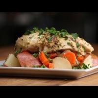 Citromos, rozmaringos csirkemell zöldségekkel