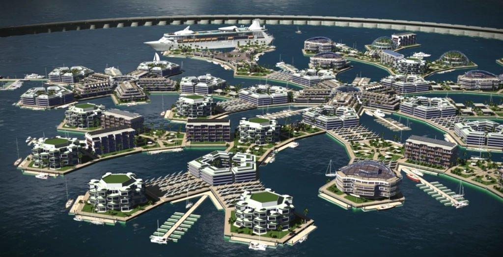 Floating Island, a világ első úszó városa
