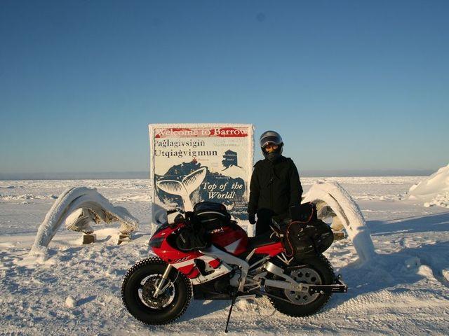 Motorral az Északi-sarkra