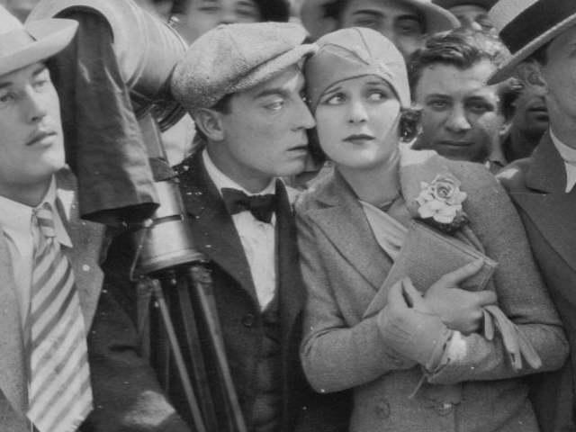 Buster Keaton egy milánói nászutas pár filmjén