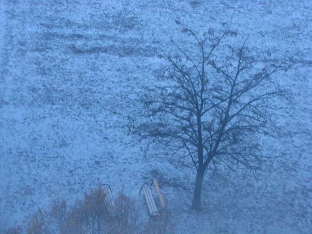 Téli táj Óbudán