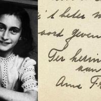 Árverésen Anne Frank kézírása