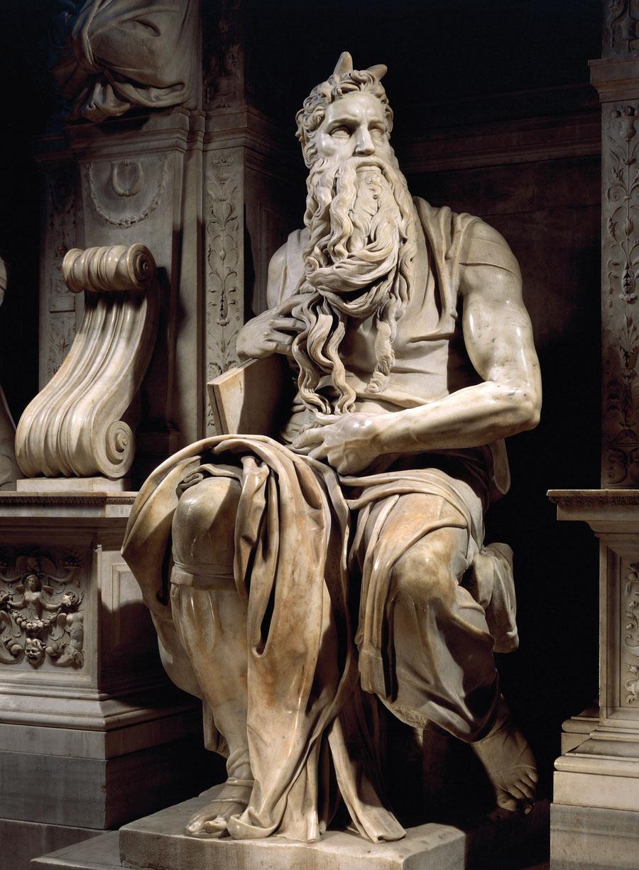 Michelangelo Mózese a régi fényével ragyog