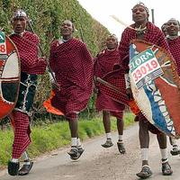 Vérszomjas masai harcosok a londoni maratonon