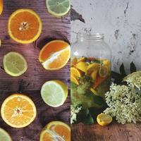 Narancsos-mentás bodzaszörp