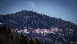 Stolzalpe mit Mond (15:00 Uhr)