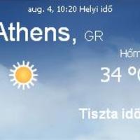 Görögország napi aktuális időjárás előrejelzés 2010.augusztus 4.
