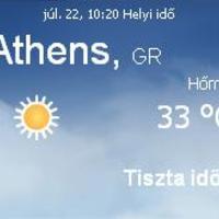 Görögország aktuális időjárás előrejelzés, 2010. július 22.