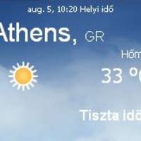 Görögország napi aktuális időjárás előrejelzés 2010.augusztus 5.