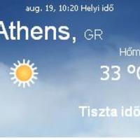 Görögország napi aktuális időjárás előrejelzés 2010.augusztus 19.