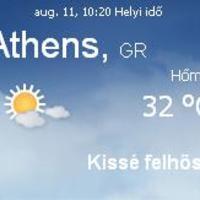 Görögország napi aktuális időjárás előrejelzés 2010.augusztus 11.