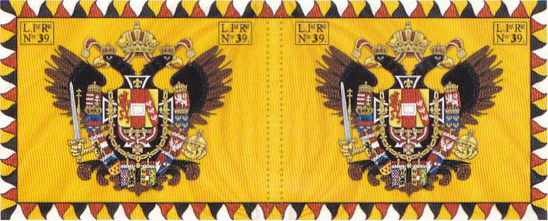 1806. mintájú Ordinärfahne