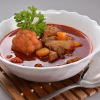 Vörösboros gulyás leves