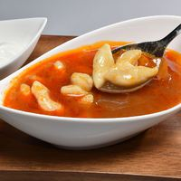 Kajdacsi kis gombóc leves