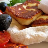 Reggelizzünk!/ 8. - Grillezett halloumi sajtot