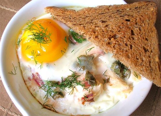 Sütőben sült tojás - oeuf cocotte