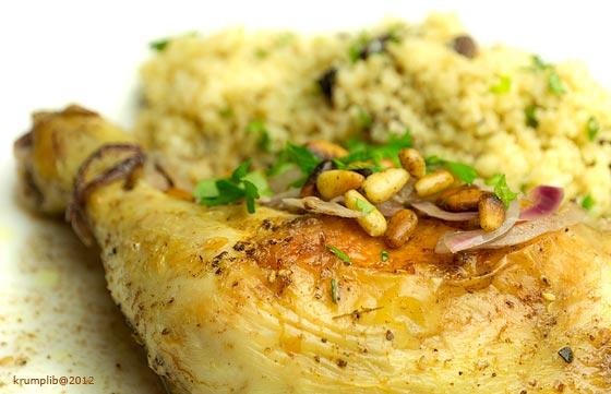 Illatos, keleti fűszeres, citromos csirke bulgurral - kép: Krumpli Béla