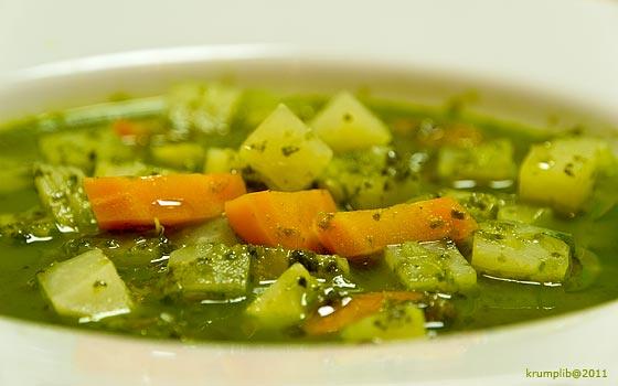Rusztikus nyári zöldségleves - kép: Krumpli Béla