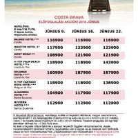 Előfoglalás Costa Bravára