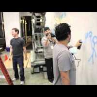 Mark Zuckerberg graffitizik