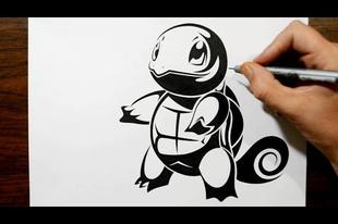 Pokémon rajzolás törzsi tetoválás stílusban