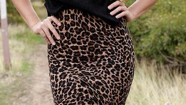 A leopárd mintás szoknya