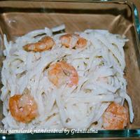 Mungóbabcsírás garnélarák rizstésztával