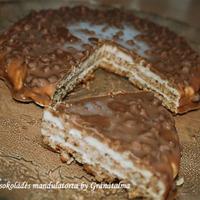 Hűs csokoládés mandulatorta