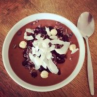 Csokis- körtés- banános Smoothie Bowl