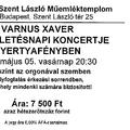 Varnus Xaver 55. születésnapi koncertje gyertyafényben