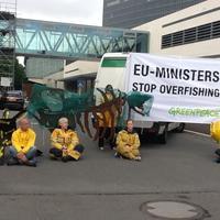 Greenpeace aktivisták blokkolták a halászati miniszterek ülését