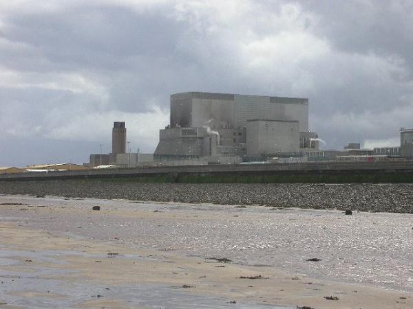 A Hinkley Point B atomerőmű, Somerset, Egyesült Királyság.
