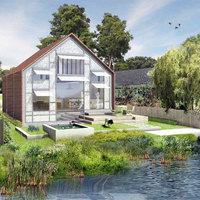 Forradalmi megoldás árvízveszélyes területekre: kétéltű tesztlakóház épül Angliában