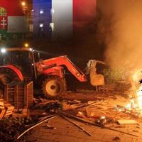 Tovább rothad az EU mezőgazdasága: francia gazdák adóhivatalt égetnek, a magyaroknak egy fitying sem jutott