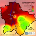 Időkép.hu - Légszennyezettség - Extrém Napikép: 17. rekord