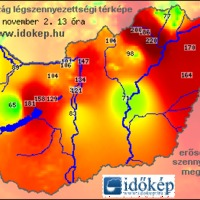Időkép.hu - Légszennyezettség - Extrém Napikép: 16. rekord - Országosan magas légszennyezettség
