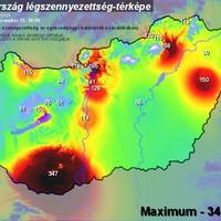 Időkép.hu - Légszennyezettség - Extrém Napikép: 21. rekord