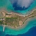 Mesés gitár alakú magánsziget a Görög-szigeteken