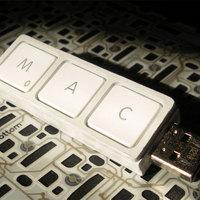 Újrahasznosított MacBook billentyűk