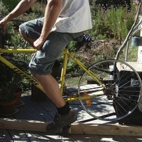 Kerékpárral hajtott mosógép