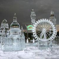 Káprázatos jégszobrok