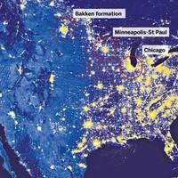 Már az űrből is látszik a palagáz-fáklyázás az USA-ban