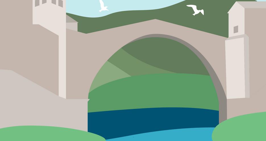 KÉPek a VÉGekről: Határmenti történetek - A kultúra hídja. Az OKC ABRAŠEVIĆ központ Mostarban