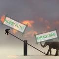 Fáradtan futni: mérleghinta elefánttal