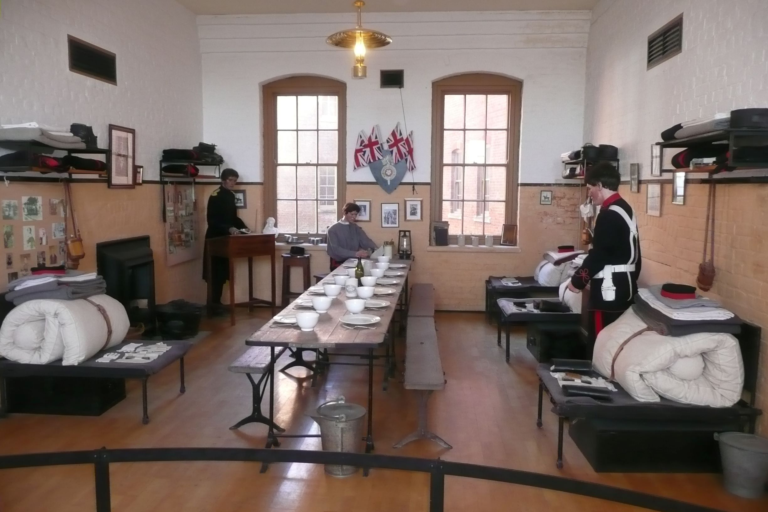 katonai barakkok - étkezde