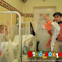 Mosolydoktorok Napja a szegedi Gyermekklinikán