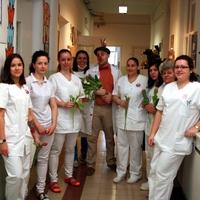 Nőnapi tulipán a Gyermekklinika dolgozóinak.
