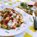Háromszínű gnocchi, rozmaringos sajtmártással