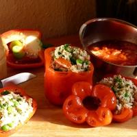 Sült paprikás finomság