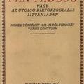 Adam Mickiewicz: Pan Tadeus vagy az utolsó birtokbafoglalás Litvániában